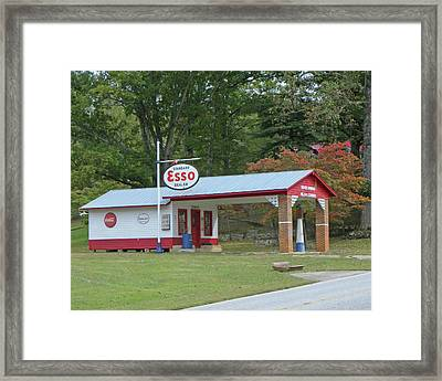 Framed Print featuring the photograph Fill 'er Up by Larry Bishop