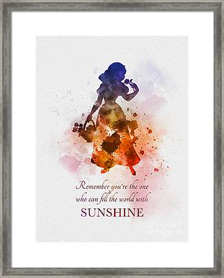 Fill The World With Sunshine Framed Print