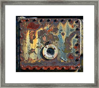 Fill To Line Framed Print by Olivier Le Queinec