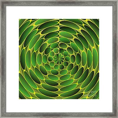 Filled Green Ellipses Framed Print
