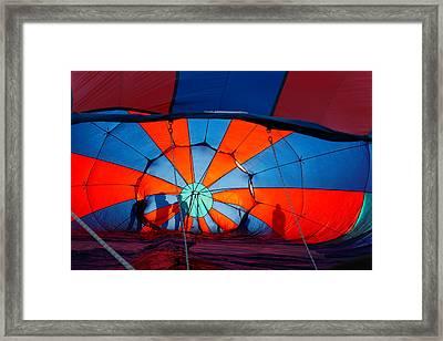 Filling The Balloon  Framed Print