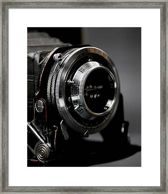 Film Camera In Black Framed Print by Kitty Ellis