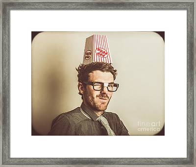 Film Critic Nerd Framed Print by Jorgo Photography - Wall Art Gallery