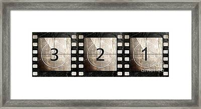 Film Leader Countdown Framed Print by Mindy Sommers