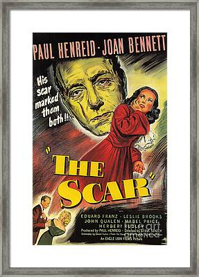 Film Noir Poster  The Scar Framed Print