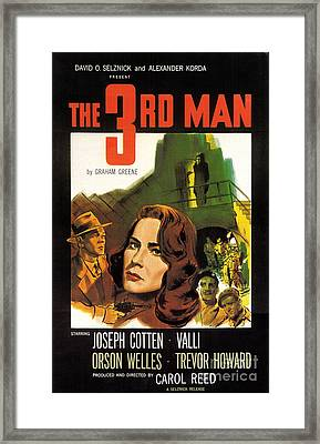 Film Noir Poster  The Third Man Framed Print