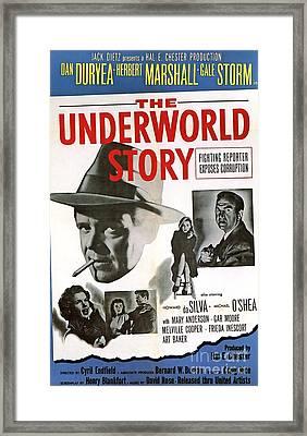 Film Noir Poster   The Underworld Story Framed Print by R Muirhead Art