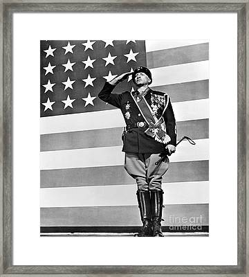 Film: Patton, 1970 Framed Print