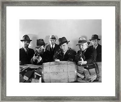 Film Still: Gangsters Framed Print