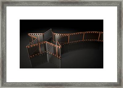 Film Strip Shooting Star Curled Framed Print by Allan Swart