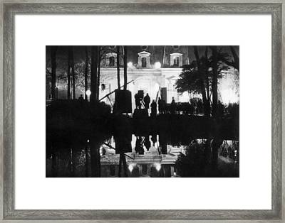 Filming At Night At Paramount Studio Framed Print by Everett