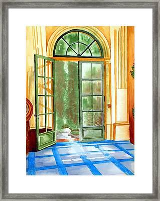 Filoli Tea House Framed Print by Gerald Carpenter