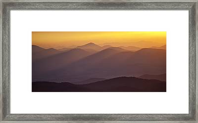 Filtered Light On The Blue Ridge Parkway Framed Print by Rob Travis