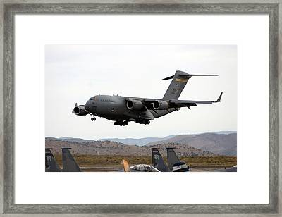 Final Approach Framed Print by Michael Courtney