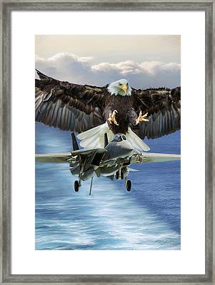 Final Approach Of Freedom Framed Print