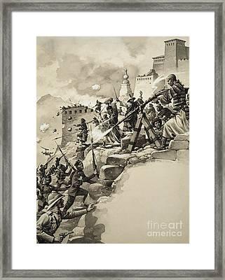 Final Assault On Tibet Framed Print
