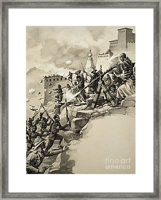 Final Assault On Tibet Framed Print by Pat Nicolle