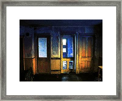 Framed Print featuring the digital art Final Days - Choices by Stuart Turnbull