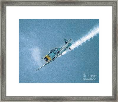 Final Dive World War Two Airplane  Framed Print by Randy Steele