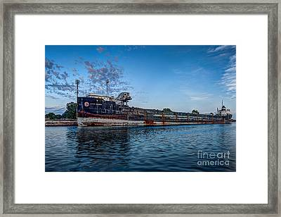 Final Mooring For The Algoma Transfer Framed Print