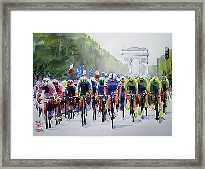 Final Pelaton Action Framed Print by Shirley Peters