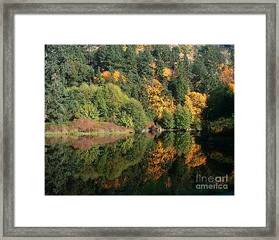 Framed Print featuring the photograph Final Reflection by Larry Keahey