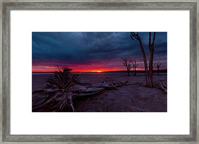 Final Sunset Framed Print by Julian Cook