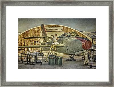 F-84f Thunderstreak Final Touches  Framed Print