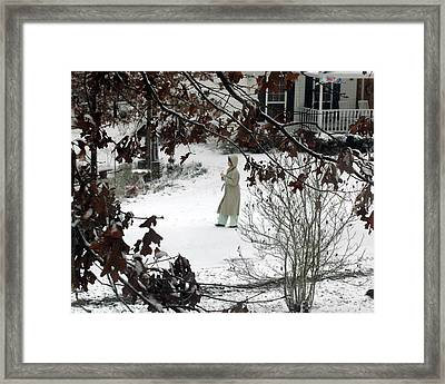 Finally Snow Framed Print by Lynn Reid
