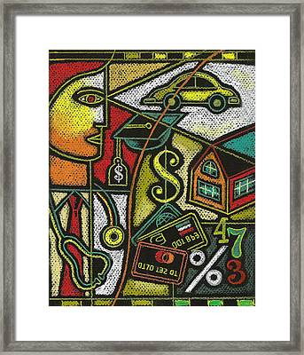 Finance And Medical Career Framed Print by Leon Zernitsky