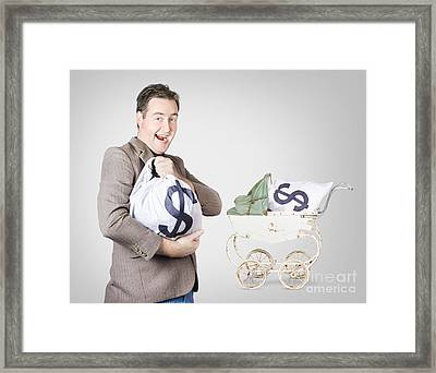 Finance And Money Growth Concept Framed Print by Jorgo Photography - Wall Art Gallery