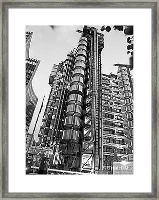 Finance The Lloyds Building In The City Framed Print