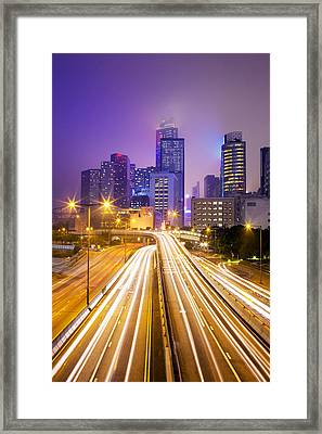 Financial District Office Buildings, Skyline Framed Print