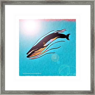 Finback Diving Through Krill Framed Print