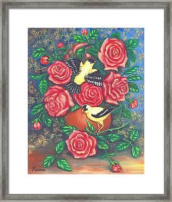 Finch Fancy Framed Print by Linda Mears