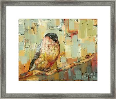 Finch Tapestry Framed Print