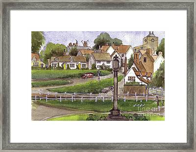 Finchingfield Essex Uk Framed Print by Dianne Green