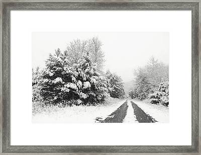 Framed Print featuring the photograph Find A Pretty Road by Lori Deiter