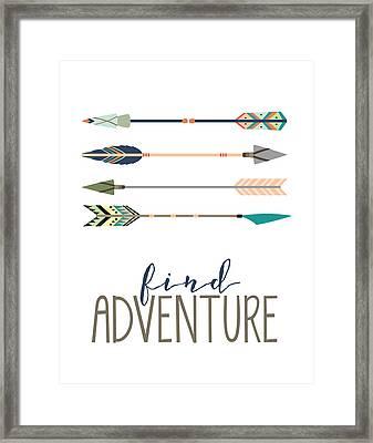 Find Adventure Framed Print by Jaime Friedman