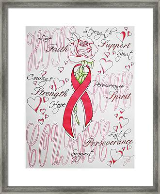 Find The Cure Framed Print