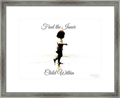 Find The Inner Child Within Framed Print by Lucia Vega