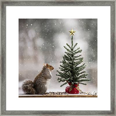 Find The Magic In Christmas Square Framed Print