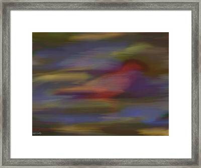 Find The Red Bird Framed Print by June Pressly