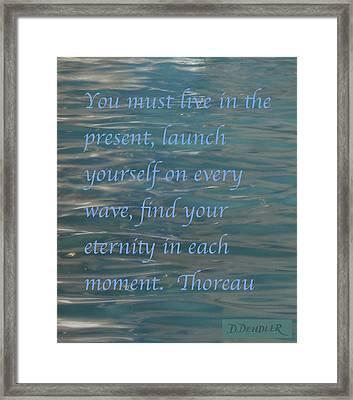 Find Your Eternity Framed Print by Deborah Dendler