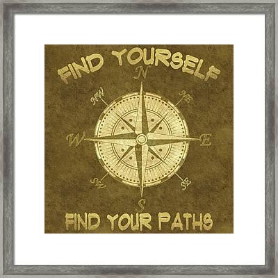 Find Yourself Find Your Paths Framed Print by Georgeta Blanaru