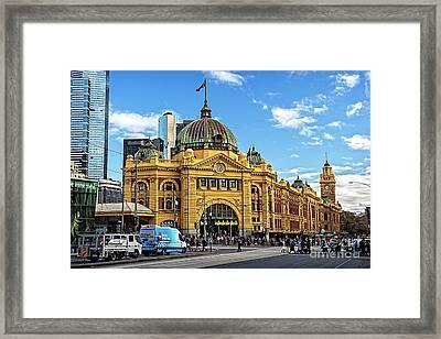 Flinders Station Framed Print