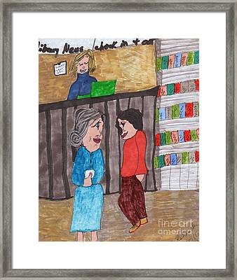 At The Library Framed Print