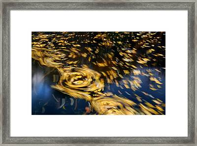 Finding Center - Autumn Abstract Framed Print