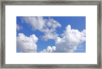 Framed Print featuring the digital art Finding Focus Sky by Francesca Mackenney