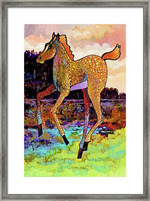 Finding His Legs Framed Print by Bob Coonts